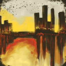 Big City   Abstract Painting