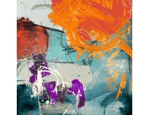 Burning Sun | Abstract Painting