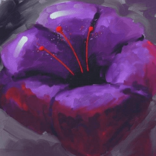 Purple Bloom | Abstract Painting