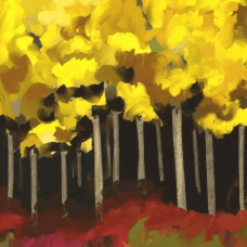 Yellow Forest | Abstract Painting