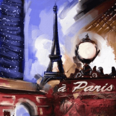 Pray for Paris | Abstract Painting